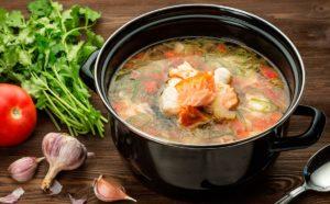 Рыбный суп - уха с низким содержанием ГИ
