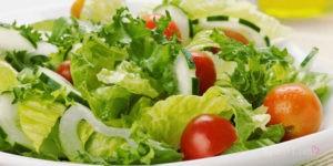 Зеленый салатик с низким ГИ для похудения