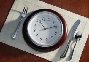 время питания